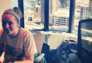 17-year-old Jennie Lamere was the only female to complete a project at TVnext Hack 2013, which she won.