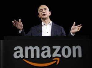 Jeff Bezos, CEO and founder of Amazon, speaks at the introduction of the new Amazon Kindle Fire HD last year.