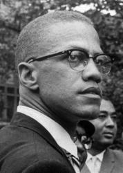 In this 1963 file photo, Malcolm X is pictured at a rally in Harlem.