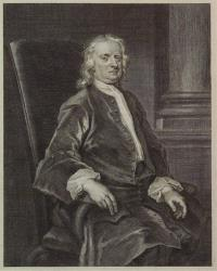 Engraving of Isaac Newton based on a 1726 painting by John Vanderbank.
