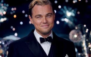 This film publicity image released by Warner Bros. Pictures shows Leonardo DiCaprio as Jay Gatsby in a scene from The Great Gatsby.