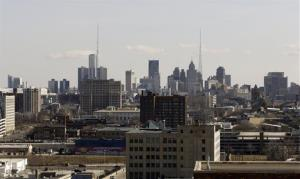 This March 14, 2013 file photo shows the skyline of the city of Detroit.