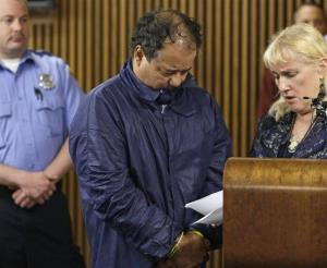 Ariel Castro appears in Cleveland Municipal court alongside defense attorney Kathleen DeMetz, right, Thursday, May 9, 2013, in Cleveland.