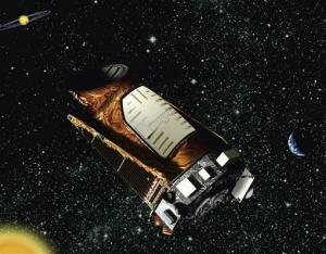 This artist's rendering provided by NASA shows the Kepler space telescope.