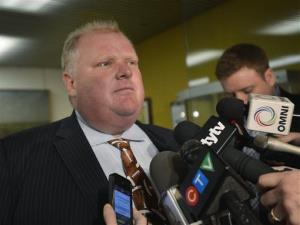 Toronto Mayor Rob Ford faces the media at city hall in Toronto in this 2012 file photo.