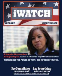 This undated handout image provided by iWatch.org shows the cover of the I-Watch report, a program of anti-terrorism indicators for police.