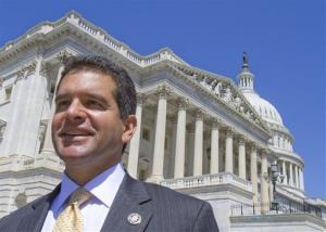 Puerto Rico's Resident Commissioner Pedro Pierluisi leaves the Capitol in Washington, Thursday, April 29, 2010, after speaking in support of the Puerto Rico Democracy Act.