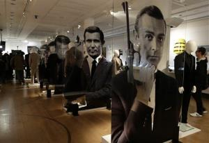 A general view of the James Bond movie memorabilia charity auction at Christie's auction house.