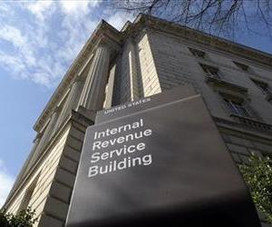 This file photo shows the exterior of the Internal Revenue Service building in Washington.