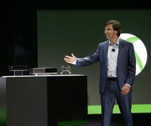 Microsoft Corp.'s Don Mattrick unveils the next-generation Xbox entertainment and gaming console system in Redmond, Wash.