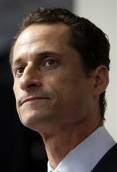 Then-Rep. Anthony Weiner speaks during a 2011 news conference in New York City.