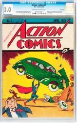 A copy of Action Comics #1.