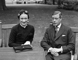 This is  a May 7, 1937 file photo of Edward, The Duke of Windsor and Mrs. Wallis Simpson at the Chateau de Cande, near Touraine, France before they are married.