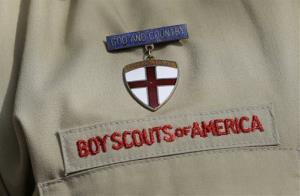 A detail of a Boy Scout uniform.