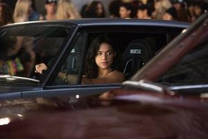 This film publicity image released by Universal Pictures shows Michelle Rodriguez in a scene from Fast & Furious 6.