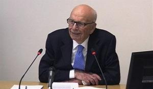 In this image from video, News Corp. chairman Rupert Murdoch appears at Lord Justice Brian Leveson's inquiry in London, Wednesday April 25, 2012.