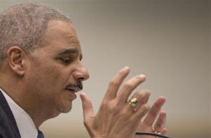 Attorney General Eric Holder testifies on Capitol Hill on May 15.