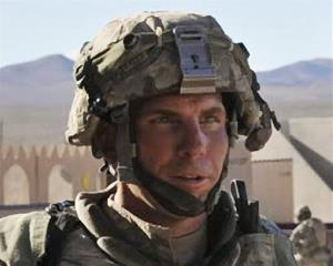In this Aug. 23, 2011 file photo, Army Staff Sgt. Robert Bales participates in an exercise at the National Training Center at Fort Irwin, Calif.