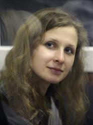 A file photo of Maria Alekhina.