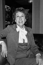 Actress Jean Stapleton speaks during an interview in Washington on Wednesday, March 3, 1977, saying she will increase speaking out to the Edith Bunkers of the land to try and muster support for the Equal Rights Amendment.