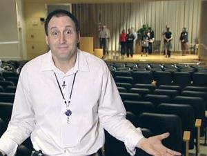 A scene from an IRS video provided to Congress on Friday, May 31, 2013, featuring employees dancing. The recording cost about $1,600 and was produced at a 2010 leadership conference.