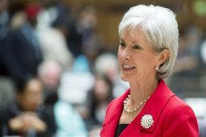 US Health and Human Services Secretary Kathleen Sebelius attends the 66th World Health Assembly at the European headquarters of the United Nations in Geneva, Switzerland, Monday, May 20, 2013.