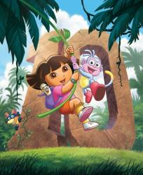 In this undated publicity image released by Nickelodeon, the animated character Dora, from Dora The Explorer, is shown.