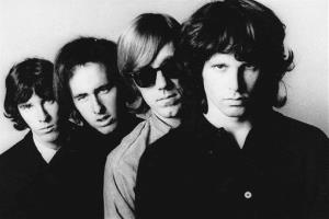 In this undated publicity file photo, members of the Doors, from left, John Densmore, Robbie Krieger, Ray Manzarek, and Jim Morrison, pose for a portrait.