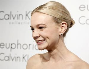 Actress Carey Mulligan arrives at the Calvin Klein party in Cannes, southern France, Thursday, May 16, 2013.