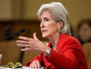 Health secretary Kathleen Sebelius.