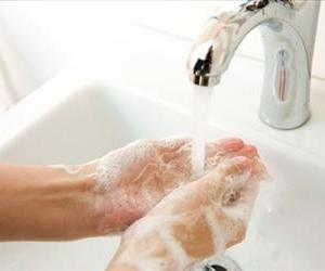 Some 95% of bathroom users aren't washing their hands for long enough.