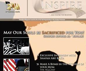 A screenshot from al-Qaeda's Inspire magazine.