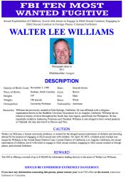 Walter Lee Williams' wanted poster.