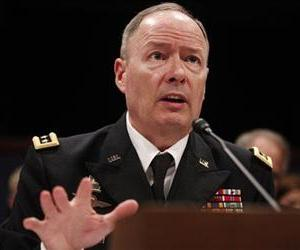 National Security Agency (NSA) Director Gen. Keith B. Alexander testifies on Capitol Hill, June 18, 2013, before the House Intelligence Committee hearing regarding NSA surveillance.