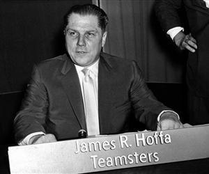 This July 26, 1959 file photo shows Teamsters Union president Jimmy Hoffa in Washington.