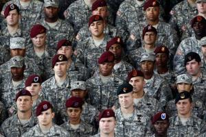Troops at Fort Bragg, which will lose a combat brigade.