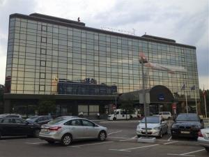 This photo taken June 26 shows a view of the Novotel Hotel in Moscow's Sheremetyevo Airport. The hotel has a wing set aside for those without visas.