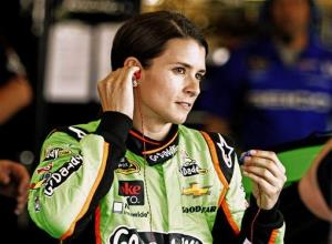 Danica Patrick prepares to run practice laps at Kentucky Speedway in Sparta, Ky., Friday.