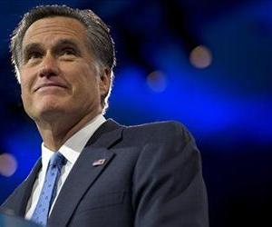 Mitt Romney pauses while speaking at the 40th annual Conservative Political Action Conference in National Harbor, Md., Friday, March 15, 2013.