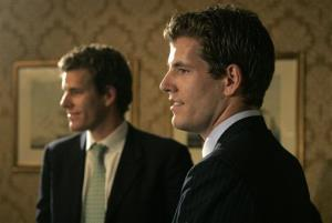 Cameron, left, and Tyler Winklevoss in a 2007 file photo.