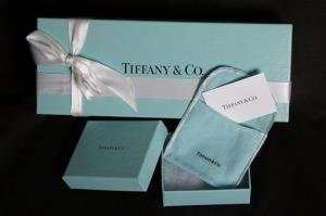 This file photo shows Tiffany & Co. gift boxes.