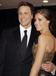 Seth Meyers and Alexi Ashe arrives for the White House Correspondents Dinner Saturday, April 30, 2011 in Washington.