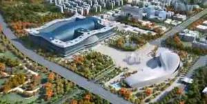 A frame grab of the exterior of the New Century Global Center in Chengdu, China.
