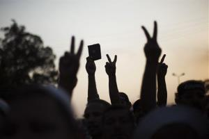 Supporters of the ousted Mohammed Morsi protest in Nasr City, a suburb of Cairo.