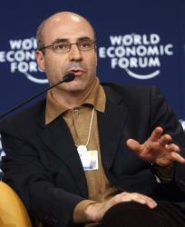 In this file photo, CEO of Hermitage Capital Management, William Browder gestures while speaking during a panel discussion 'The Russian Riddle' at the World Economic Forum in Davos, Switzerland.