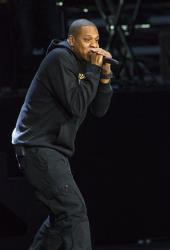 Jay-Z performs at a rally in support of President Obama in Columbus, Ohio, last year.