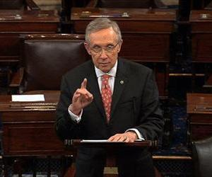 In this image from Senate Television, Majority Leader Harry Reid speaks on the Senate floor Thursday morning, July 11, 2013, in Washington.