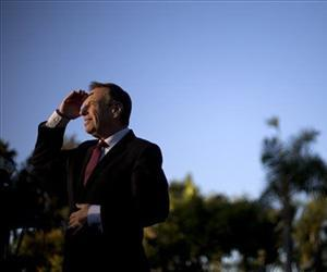 In this Nov. 7, 2012 file photo, then-Congressman Bob Filner looks into the sun during a news conference at a park in San Diego.