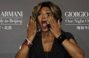 Tina Turner arrives for the Giorgio Armani fashion show held in Beijing, China, Thursday, May 31, 2012.