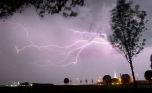 File photo of lightning.